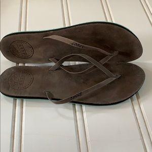 Reef Leather Flip Flops